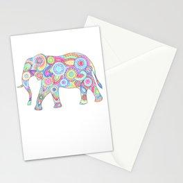 Elephant Flower Doodle Stationery Cards