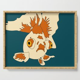Orange and Cream Butterfly Telescope Goldfish Serving Tray