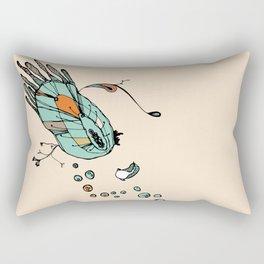 Clam Orange Rectangular Pillow