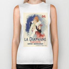 Belle Epoque vintage poster, Sarah Bernhardt, La Diaphane Biker Tank