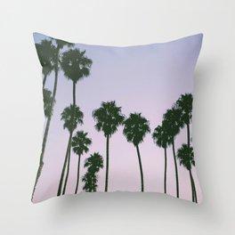 Palm Trees Sunset Throw Pillow