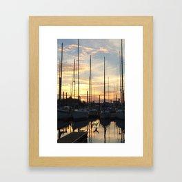 Sunset at The Happy Mermaid Framed Art Print