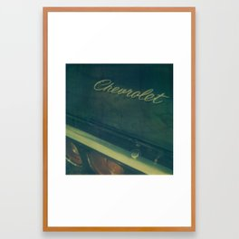 Chevrolet Polaroid Framed Art Print
