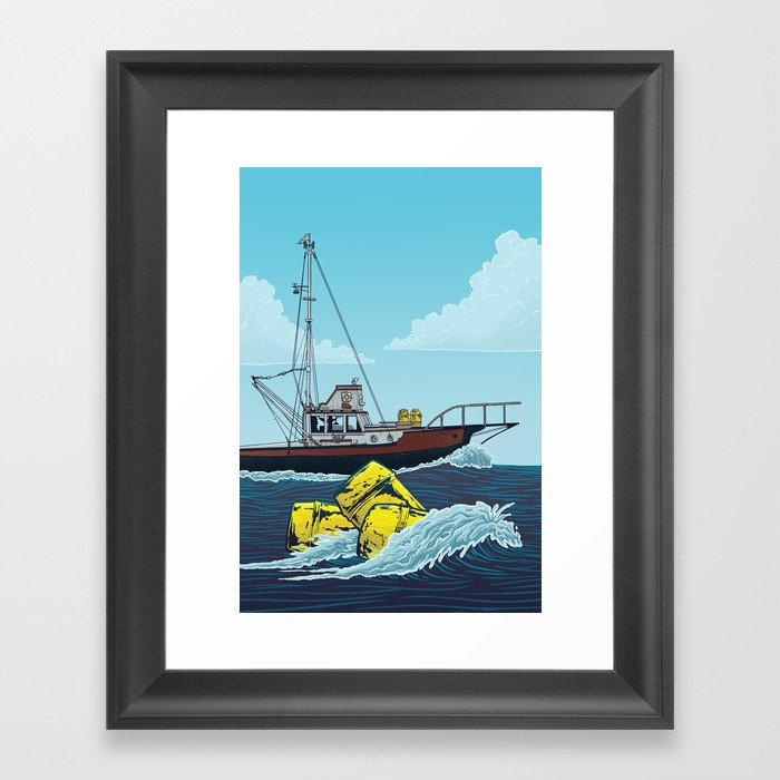 Jaws: Orca Illustration Gerahmter Kunstdruck