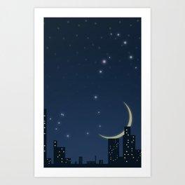 Night (Scorpio) Art Print