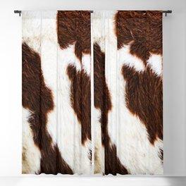 Cowhide Brown Spots Blackout Curtain
