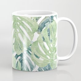 Tropical Leaves Monstera leaves Jungle leaves Coffee Mug