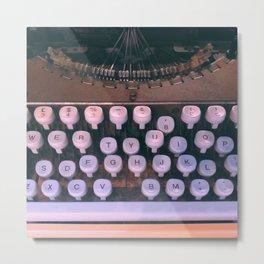 #03#Typewriter#vintage#machine Metal Print