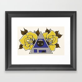 R2D2 Tattoo Flash Print Framed Art Print