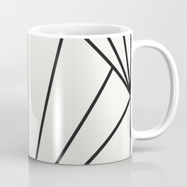 Diamond Series Sun Burst Charcoal on White Coffee Mug