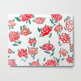 hand draw floral watercolor pattern design Metal Print