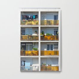 Apartment balcony Metal Print
