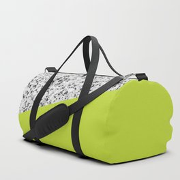 Granite with Lime Punch Color Duffle Bag
