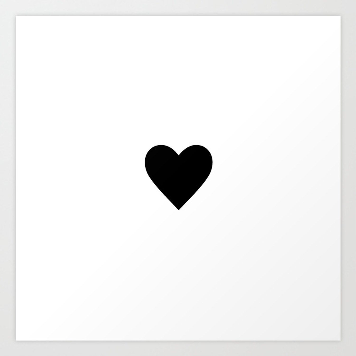 White black heart love art print by lifeisbeautiful society6
