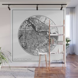 Amsterdam Map Universe Wall Mural