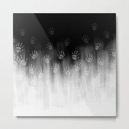Terror White Hands Metal Print