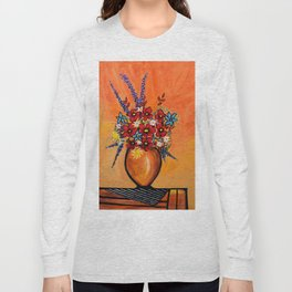 Flowers On Table Long Sleeve T-shirt