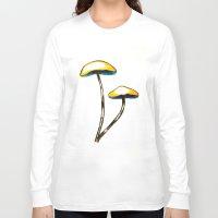 mushroom Long Sleeve T-shirts featuring mushroom by gaus