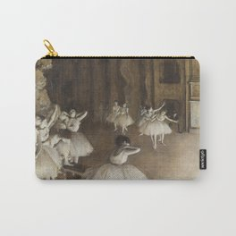 Ballet Rehearsal on Stage by Edgar Degas Carry-All Pouch