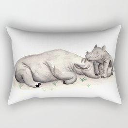Mama rhino Rectangular Pillow