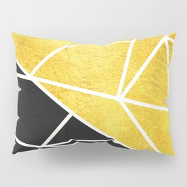 Coal and Gold Pillow Sham