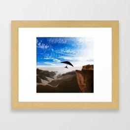 Hang gliding Framed Art Print