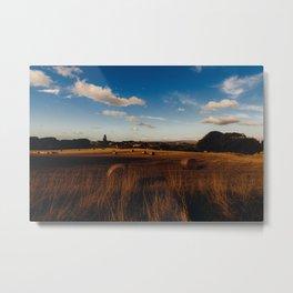 haystacks in autumn Metal Print