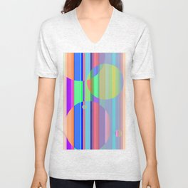 Re-Created Intersection XI by Robert S. Lee Unisex V-Neck