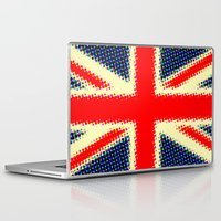 union jack Laptop & iPad Skins featuring Union Jack by deff