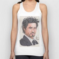 robert downey jr Tank Tops featuring Robert Downey Jr. by Adrian Casanova