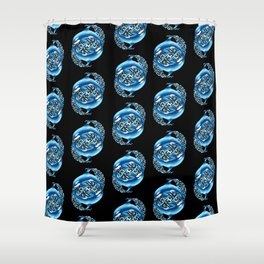 Orca Pattern Shower Curtain