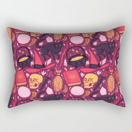 Witch Supplies in Wine Rectangular Pillow