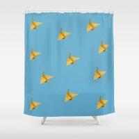 crane Shower Curtains featuring Crane by leemonade