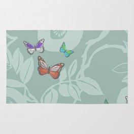 trailing vine w butterflies Rug