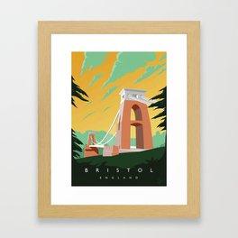 Vintage Bristol Poster Framed Art Print