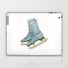 Polka dot ice skates Laptop & iPad Skin
