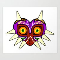 majoras mask Art Prints featuring Majoras Mask by fiono