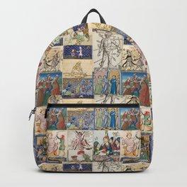 People Getting Stabbed in Medieval Manuscripts Backpack