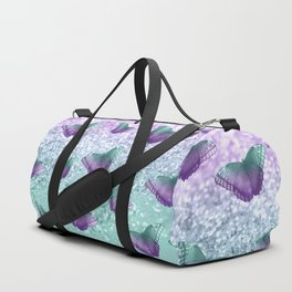 Mermaid Butterfly Glitter Dream #1 #shiny #decor #art #society6 Duffle Bag