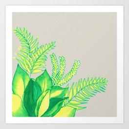 Greens and Yellows ! Art Print