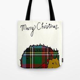 Winter Hedgehog Tote Bag