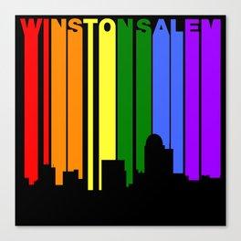 Winston-Salem North Carolina Gay Pride Skyline Canvas Print