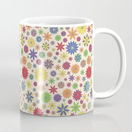 Flower Field Multi-Color on Cream Coffee Mug