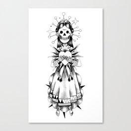 Catrina de mi corazón Canvas Print