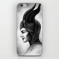 maleficent iPhone & iPod Skins featuring Maleficent  by Denda Reloaded