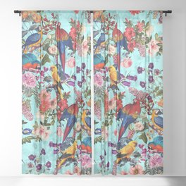 Floral and Birds XI Sheer Curtain