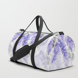 Purple Wisteria Flowers Duffle Bag
