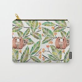 Happy Sloth – Tropical Green Rainforest Carry-All Pouch