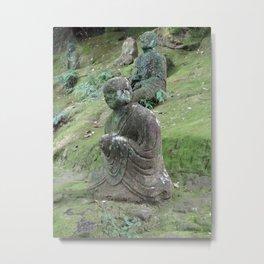mossy old stone disciple of Buddha Metal Print