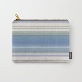 Blue and Neutral Color Stripe Design Carry-All Pouch